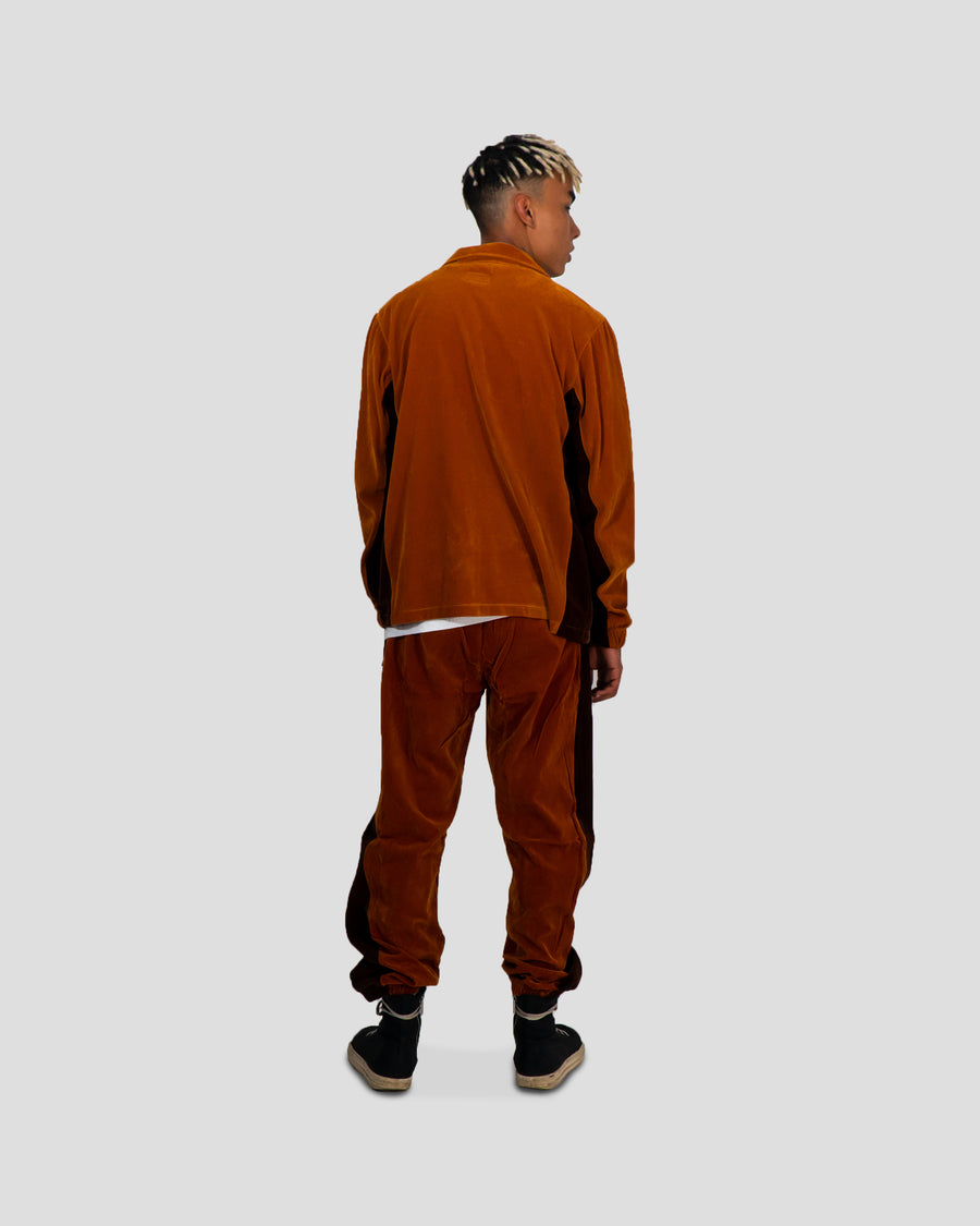 Brown Plush Tracksuit Top