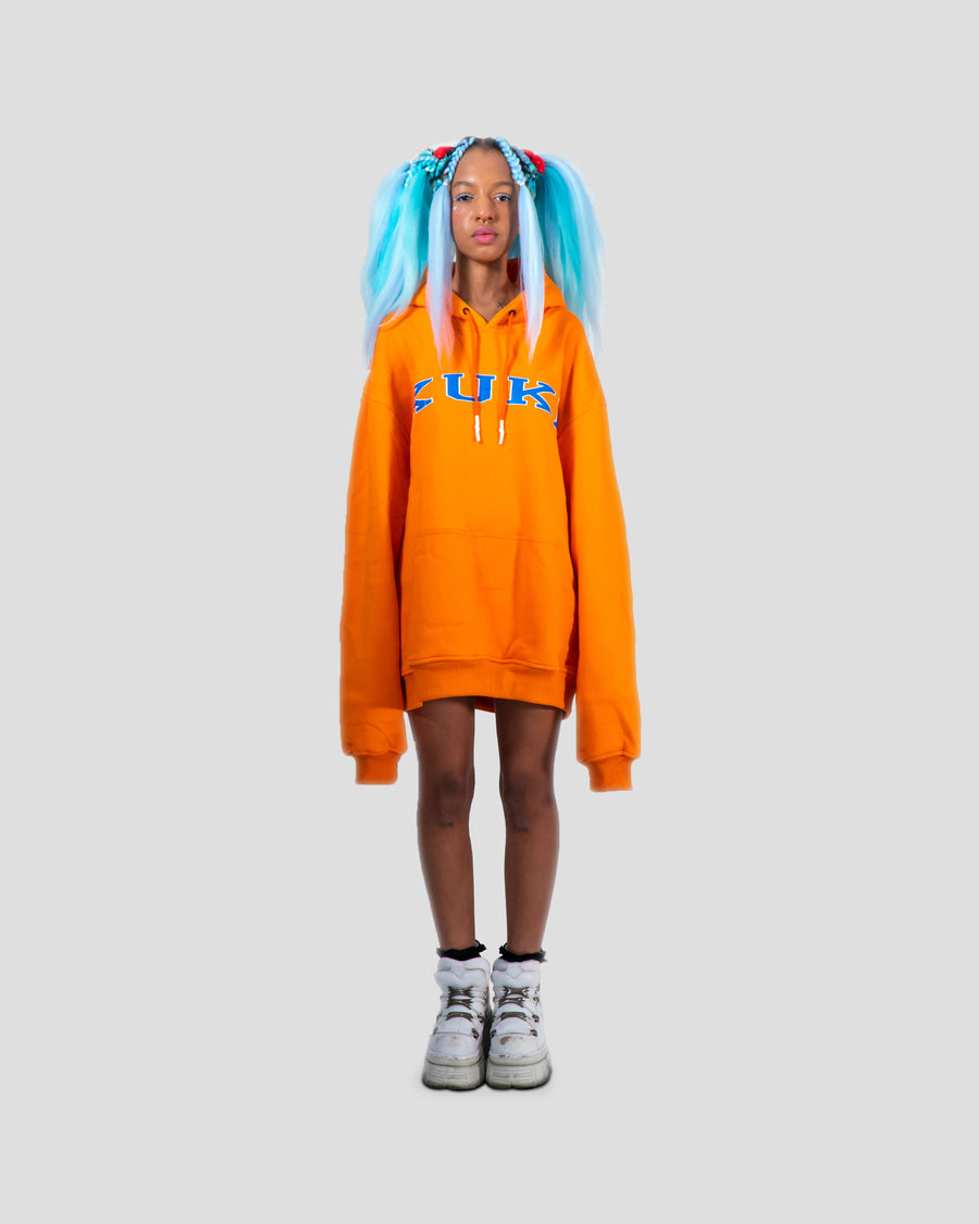 College Hoody Orange / Blue