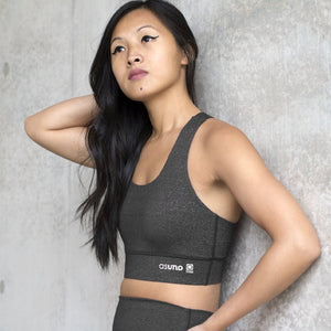 Asuno UK Ethical Activewear Gym Fitness Embrace Sports Bra Charcoal