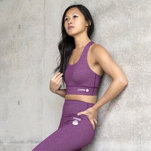 Asuno UK Ethical Activewear Gym Fitness Embrace Sports Bra Purple