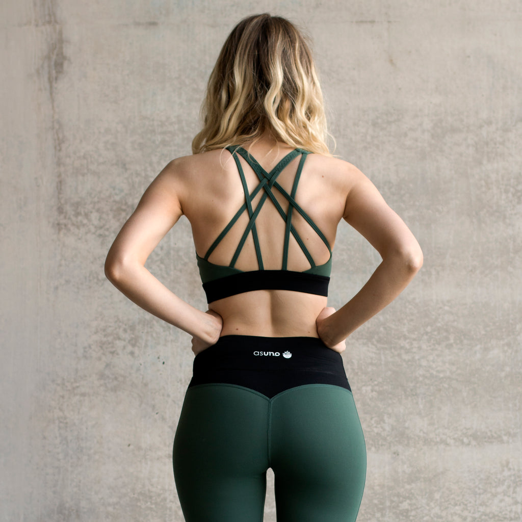 Asuno UK Ethical Activewear Inspire Sports Bra Teal