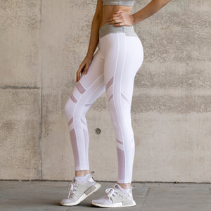 Asuno UK Ethical Activewear Yoga Fitness Inspire Leggings White