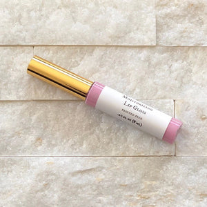 Moisturizing Organic Lip Gloss Frosted Pink