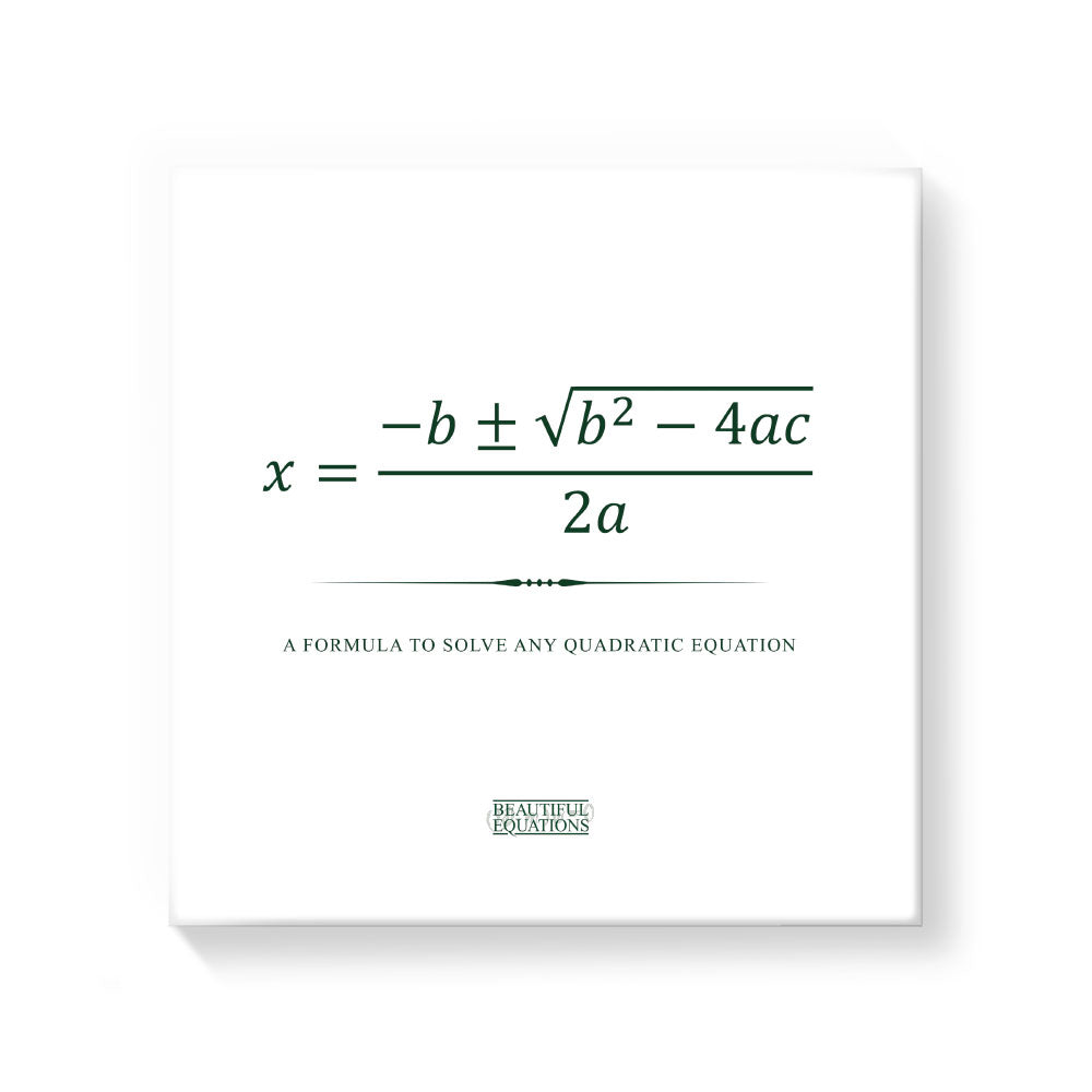 Quadratic Formula Canvas - Beautiful Equations