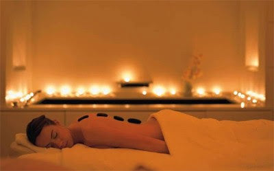 Hot Stone Package & Candlelit Spa Experience inc. Three Course Meal for Two
