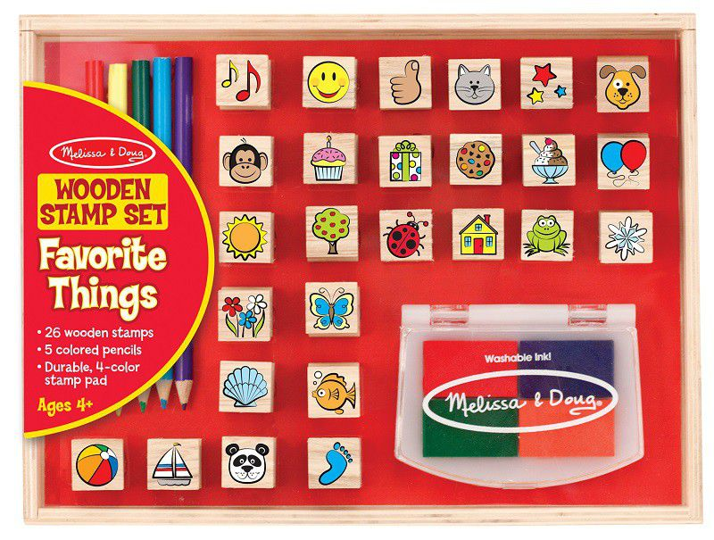 Melissa & Doug - Stamp Set - Wooden Favourite Things