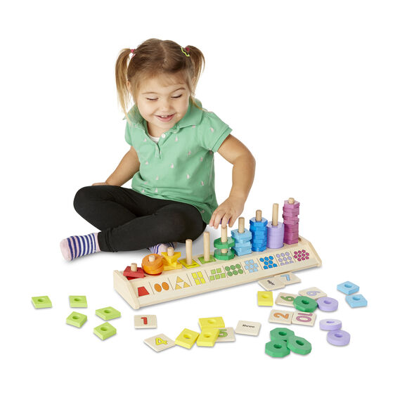 Melissa & Doug Classics - Counting Shape Stacker