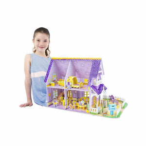 M&D Pretty purple doll house 3-D puzzle - Razberry Kids Co