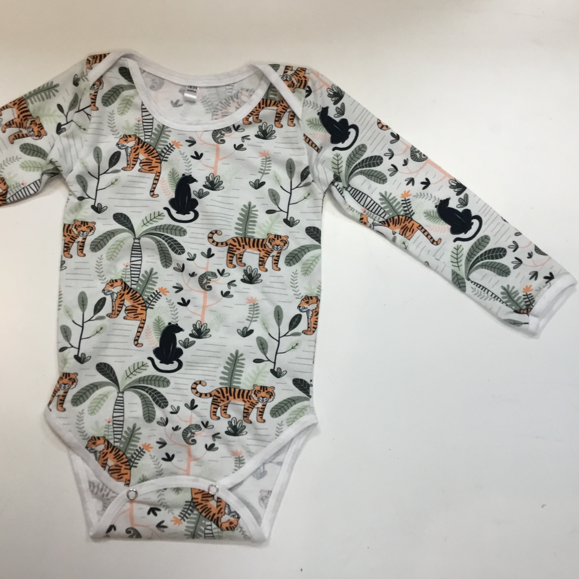 Onesie - Long Sleeve Jungle  Life - Baba Fishees - Razberry Kids Co