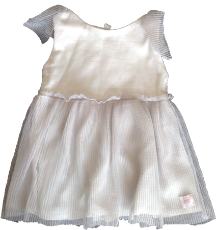 Soft Silver Tutu Dress - Razberry Kids Co