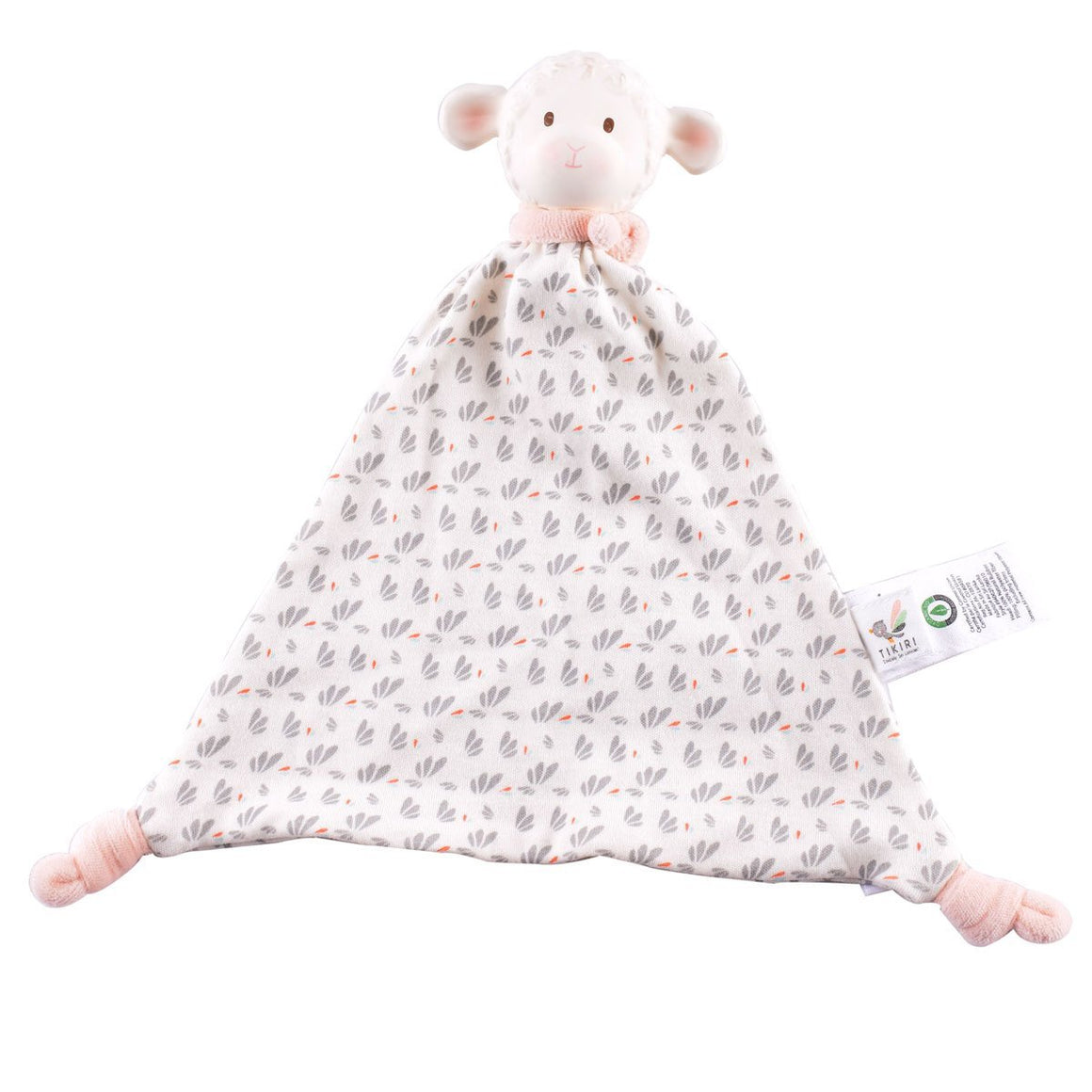 Lila Lamb Comforter with Rubber Head - Razberry Kids Co