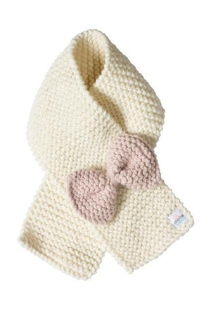 Chunky Knit scarf + bow - Razberry Kids Co