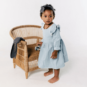Soft Denim dress - Razberry Kids Co