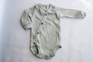 Cross Button Baby Vest - Baby Long Sleeve - 100% Cotton
