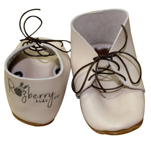 Razberry K. Pink Leather Booties - Razberry Kids Co