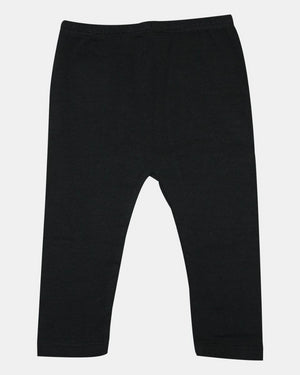 Black Cotton Lycra Legging - Razberry Kids Co