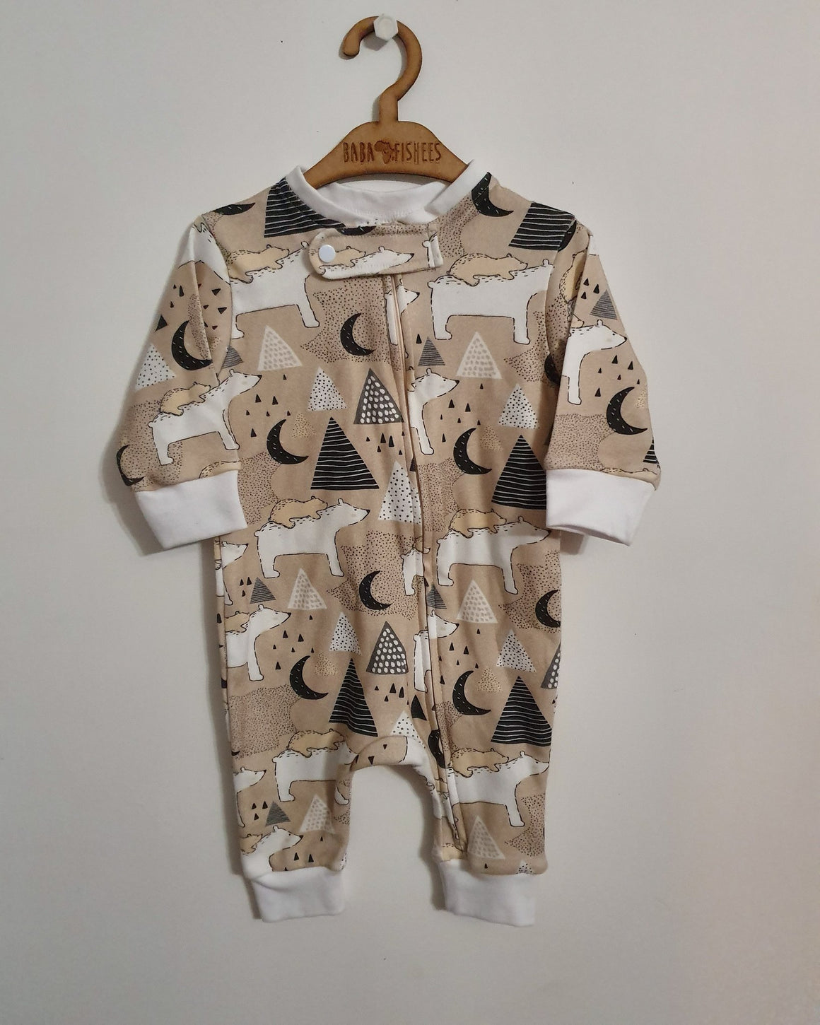Baba Fishees Romper - Moma Bear