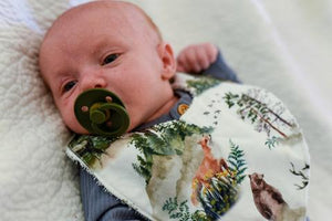 Baby pacifier, Bibs, and Baby Dummy for all babies. Razberry Kids.