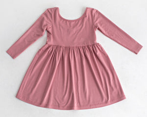 Pink Viscose Ballet Dress - Razberry Kids Co