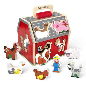 Melissa & Doug Classics - Takealong Sorting Barn
