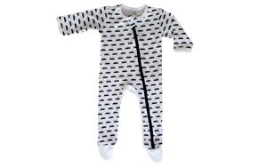 Navy Cars Baby Grow - Razberry Kids Co