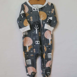 Peeking bear - long sleeve onesie - Baba Fishees