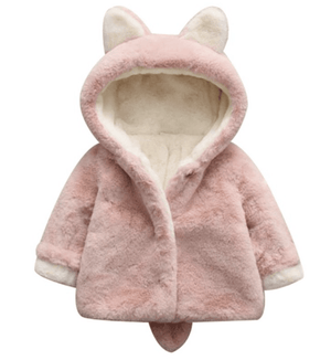 Pink Ears&Tail Cosy Coat - Razberry Kids Co