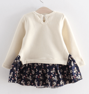 milk and navy bunny twofer - Razberry Kids Co