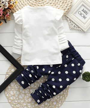 Navy spotted leggings - Razberry Kids Co