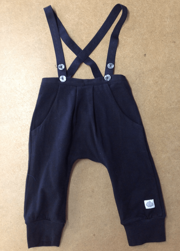 Black Knit Dungarees - Razberry Kids Co