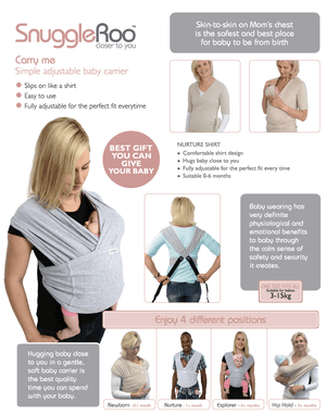 Snuggle-Roo Baby Carrier - Razberry Kids Co