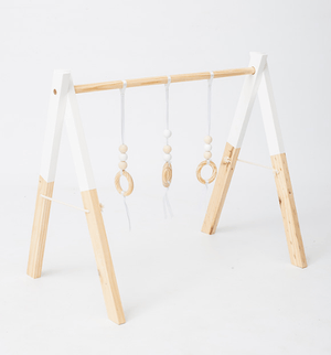 Wooden play gym - pine - Razberry Kids Co