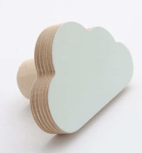 Cloud shaped wall hook - various colours - Razberry Kids Co