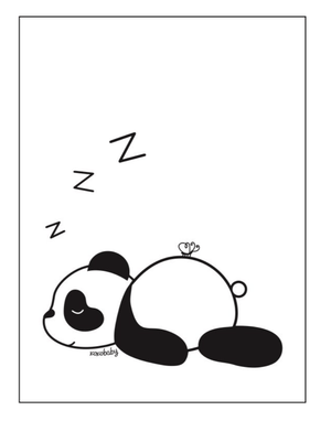 Sleeping Panda Pic - Razberry Kids Co