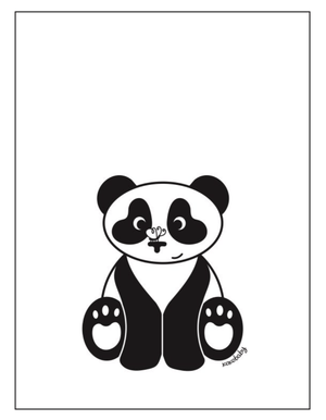 Sitting Panda Pic - Razberry Kids Co