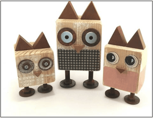 Wooden Doodles Owl - Razberry Kids Co