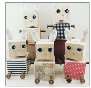 Wooden Doodles Bunny - Razberry Kids Co