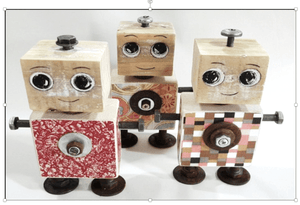 Wooden Doodles Robot - Razberry Kids Co