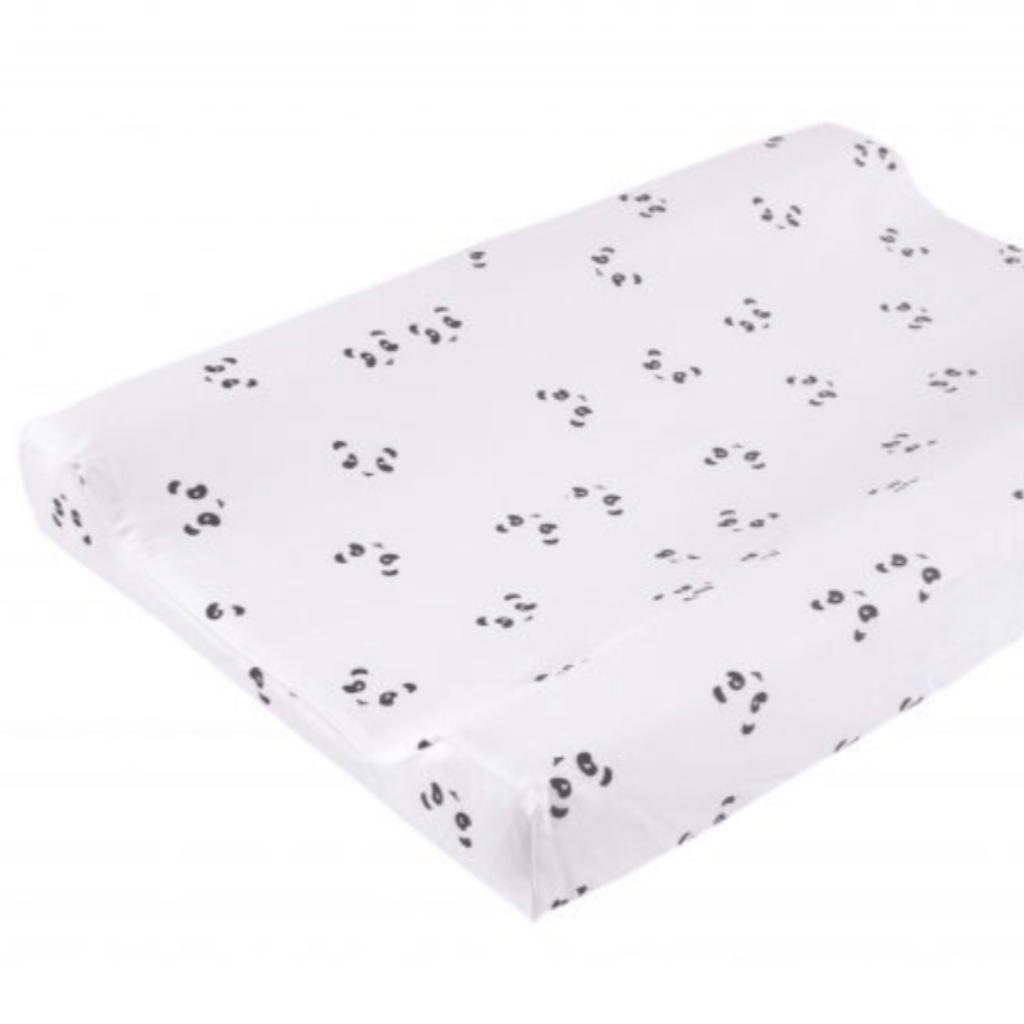 Changing Mat cover - Grey Bunny print (C) - Razberry Kids Co