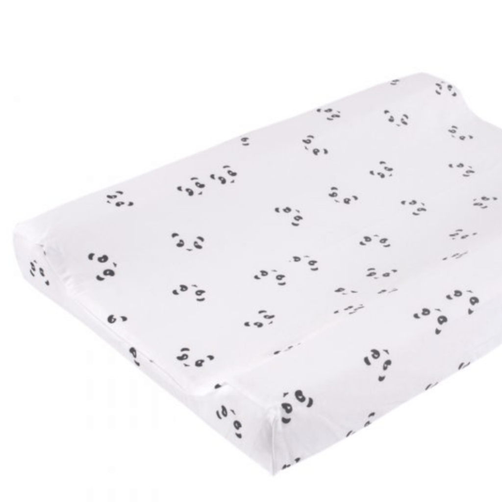 Changing Mat cover - Black panda print (C) - Razberry Kids Co