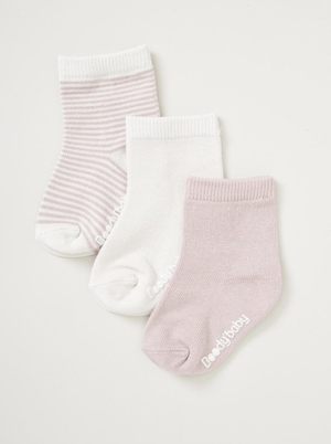 3 pairs Bamboo knit socks - Razberry Kids Co