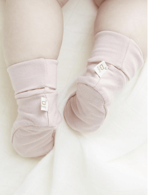 Bamboo knit Beanie& Booties - Razberry Kids Co