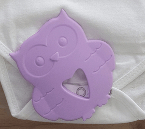 Silicon Teether - Owl - Razberry Kids Co