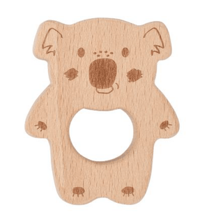 Beechwood Teether - Razberry Kids Co