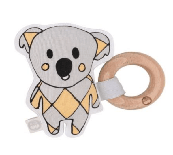Kiplet Rattle + Beechwood Teether Bags & Accessories Cinnamon Sue