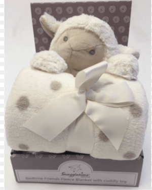 Fleece Blanket with Cuddle Toy - Sheep - Razberry Kids Co