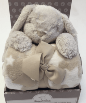 Fleece Blanket with Cuddle Toy - Rabbit - Razberry Kids Co