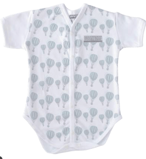 Aqua Hot Air balloon print Bodyvest - Razberry Kids Co