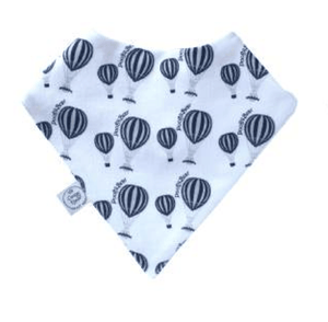 Navy hot air balloon print bib - Razberry Kids Co