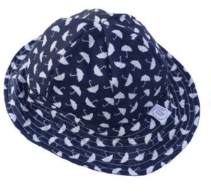 Navy Umbrella print hat - Razberry Kids Co